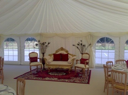Marquee Linings above Throne