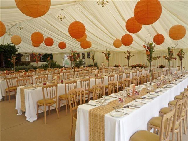 Orange Themed Garden Wedding Portfolio Crest Marquees