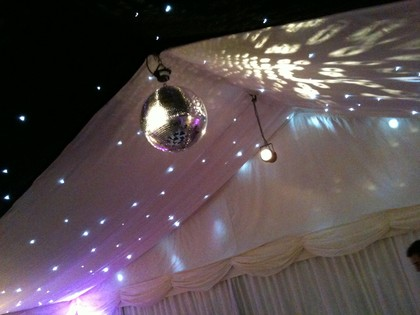 Hireable Marquee Disco Ball