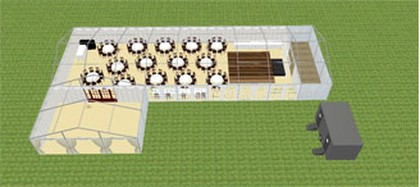 Marquee Catering Section 3D Plan 2