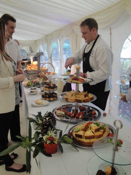 Serving Food from Buffet