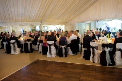 White and Black Chair Covers