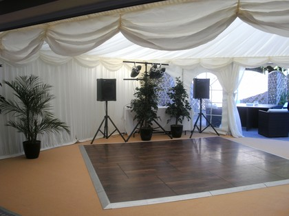 Marquee Linings above Dance Floor