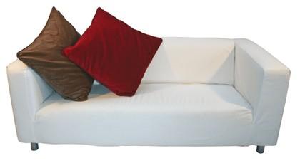 White Suede Sofa
