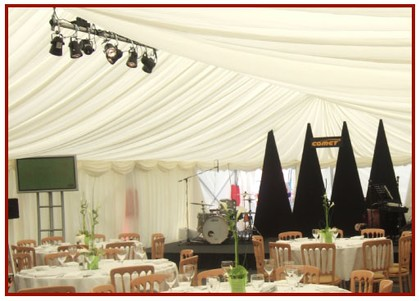 Marquee Linings with Lighting Rig