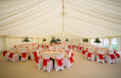 Marquee Linings above dinning
