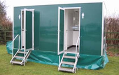 Luxury Portable Toilets Exterior