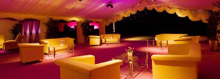Marquee with Luxury Furnishings