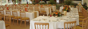 Large Dinner setting in a Marquee