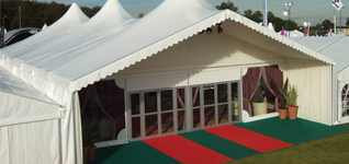 Marquee with Door and Peaks
