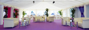 Open Marquee with Purple Flooring